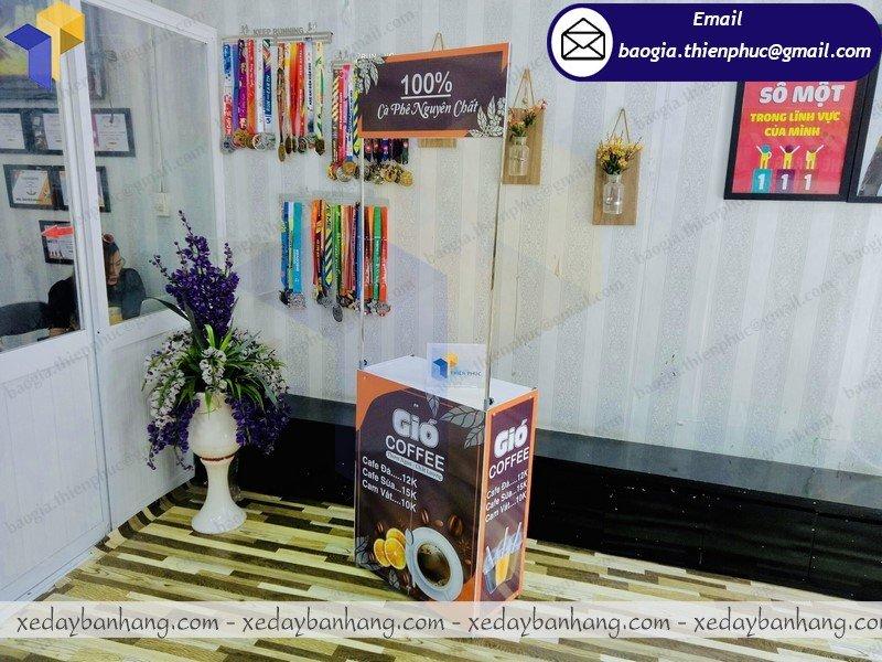 quầy booth sắt mini bán cafe phin