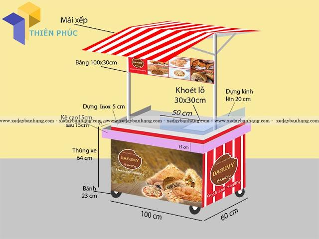 Nhận đóng xe bán bánh, xe bán thức ăn nhanh lưu động