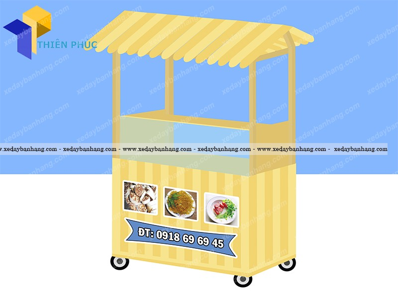 Nhận đóng xe gỗ bán bánh tráng trộn theo yêu cầu