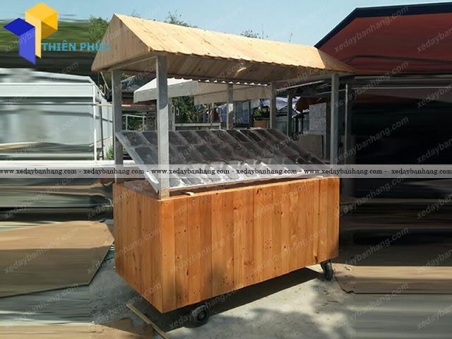 Nhận đóng xe gỗ bán xiên que theo yêu cầu
