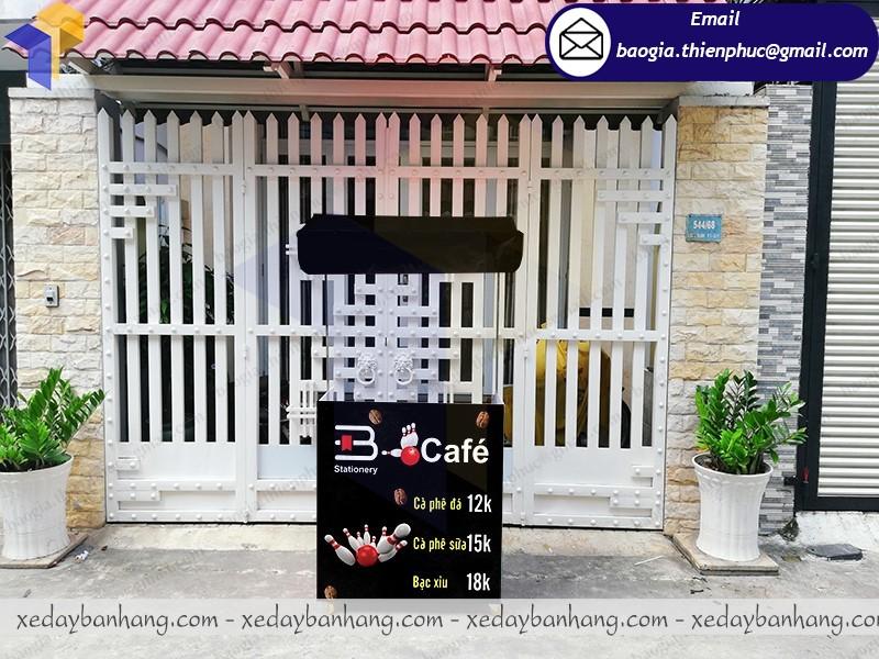 booth bán cafe lắp ráp siêu thị