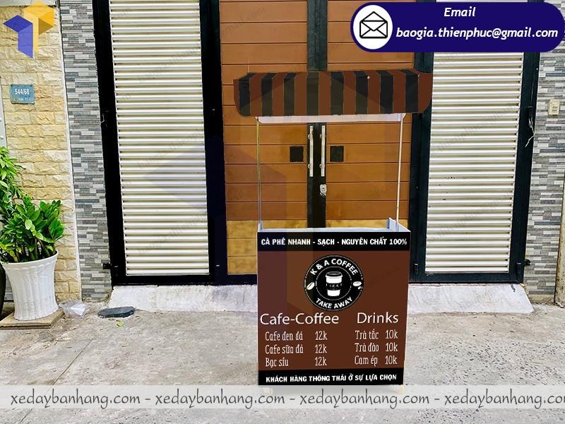quầy booth lắp ráp bán cafe