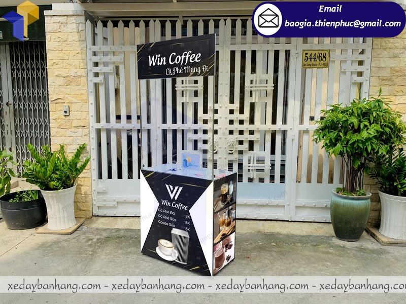 quầy sampling sắt bán cafe giá rẻ