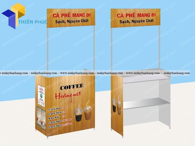 Quầy bán cà phê di động tháo lắp tiện dụng