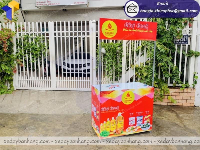 Thiết kế tủ bán hàng sampling siêu thị giá rẻ tại TPHCM