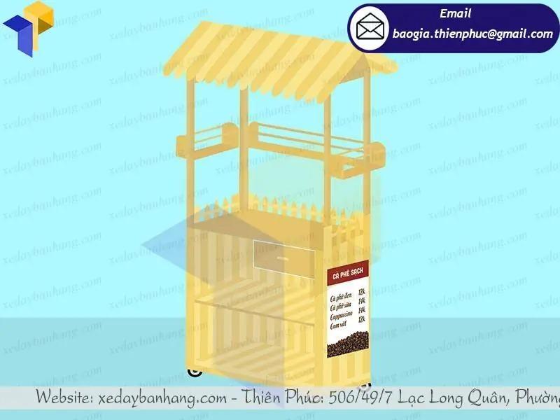 quầy gỗ bán cafe vỉa hè giá rẻ