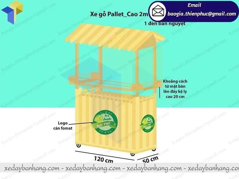 quầy gỗ bán trà chanh vỉa hè