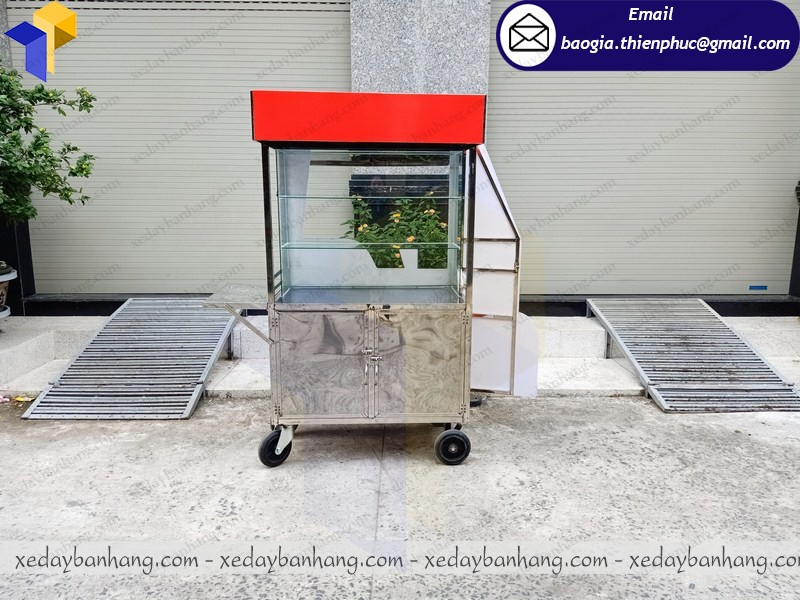 thiết kế xe inox bán bánh mì theo yêu cầu