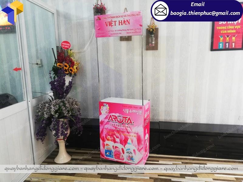 Booth quảng cáo sản phẩm tại nha trang