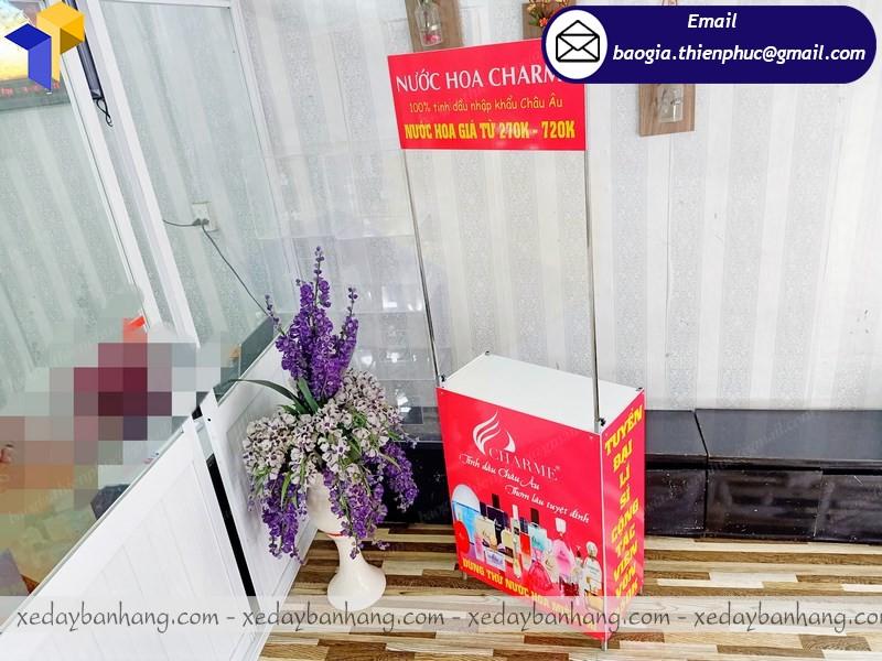 booth quảng cáo mỹ phẩm ở phú quốc