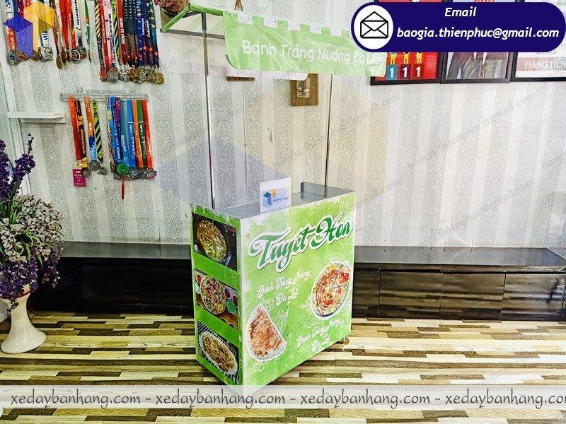 thiết kế booth lắp ráp bán bánh tráng nướng