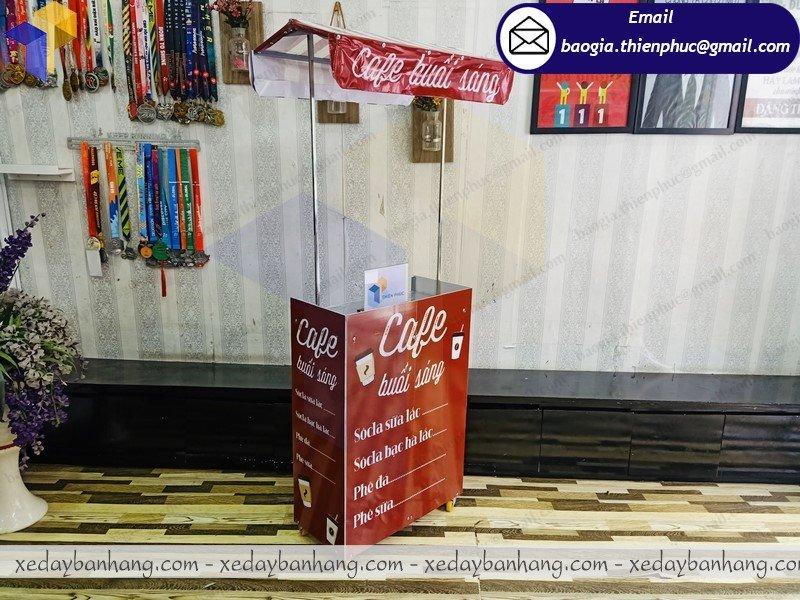 thiết kế booth mini bán cafe mang đi
