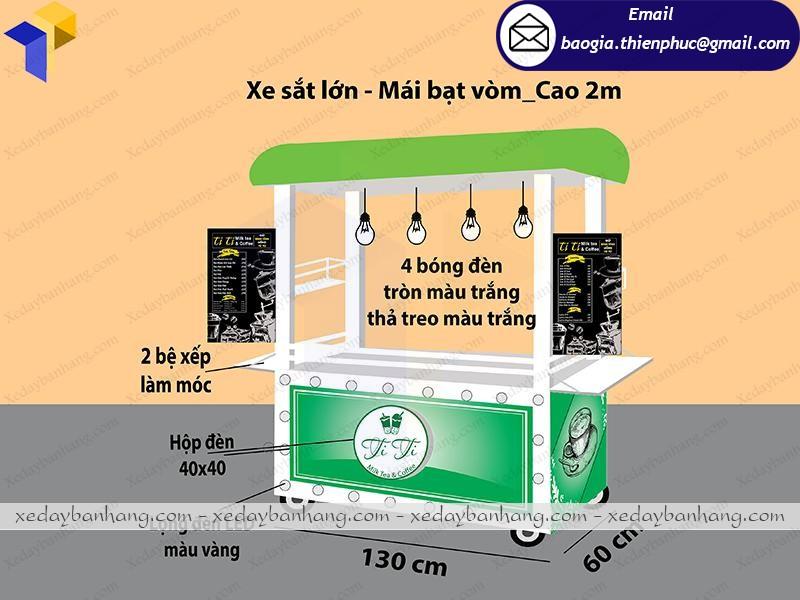 mẫu tủ bán trà sữa xinh xắn rẻ