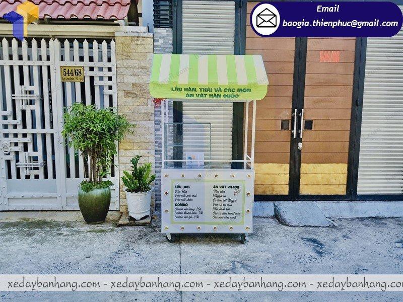 thiết kế tủ sắt bán đồ ăn di động