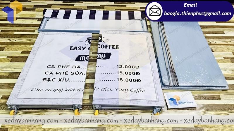 thiết kế xe cà phê gấp gọn giá rẻ
