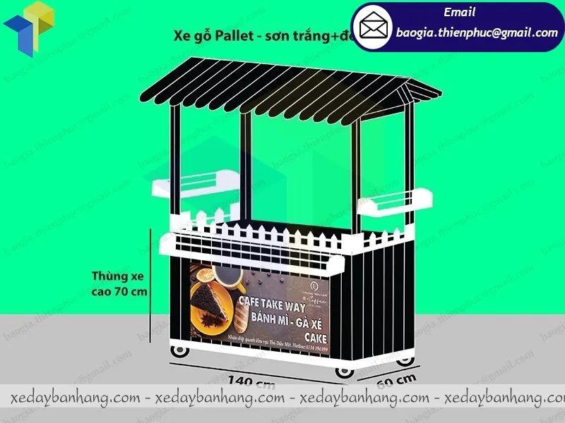 thiết kế xe gỗ bán cafe giá rẻ