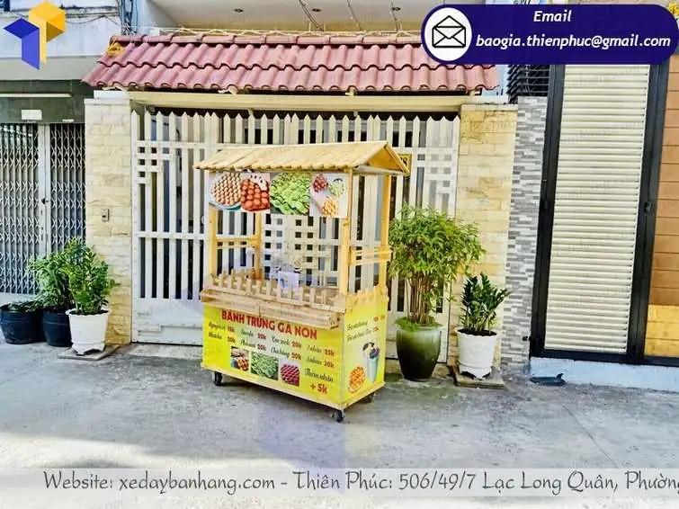 thiết kế xe gỗ bán đồ ăn vặt