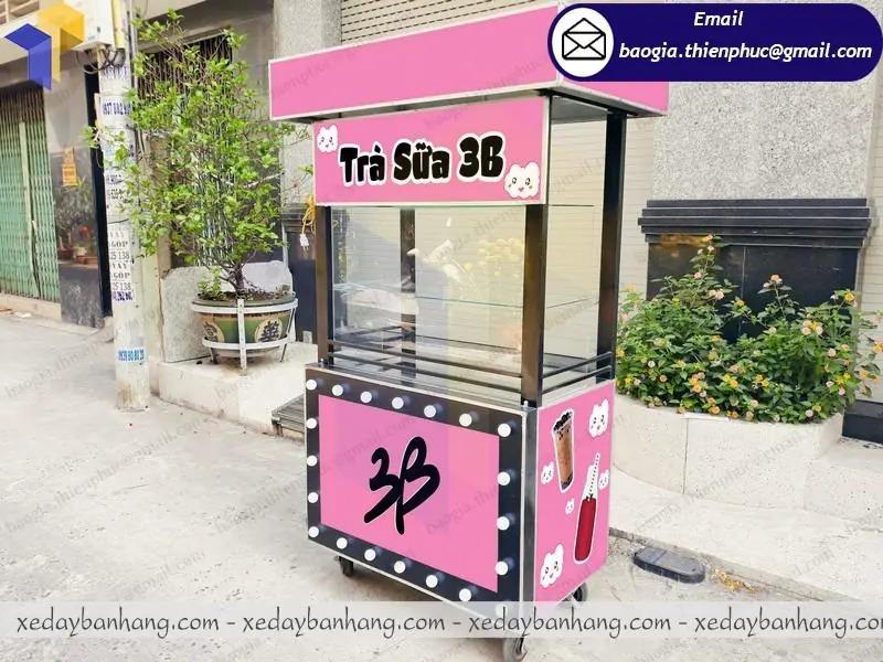 thiết kế xe trà sữa bằng sắt giá rẻ
