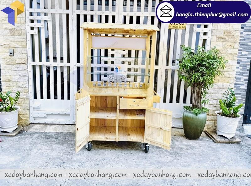 tủ bán cà phê di động bằng gỗ giá rẻ