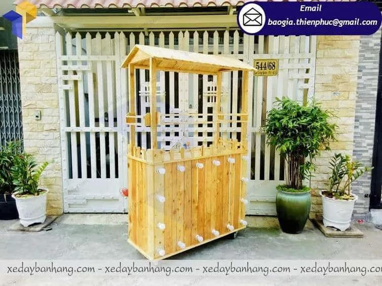 tủ bán cam ép bằng gỗ  giá rẻ