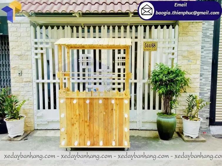 tủ bán cam ép bằng gỗ