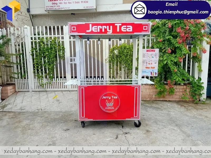 tủ bán trà sữa nhỏ gọn bằng inox