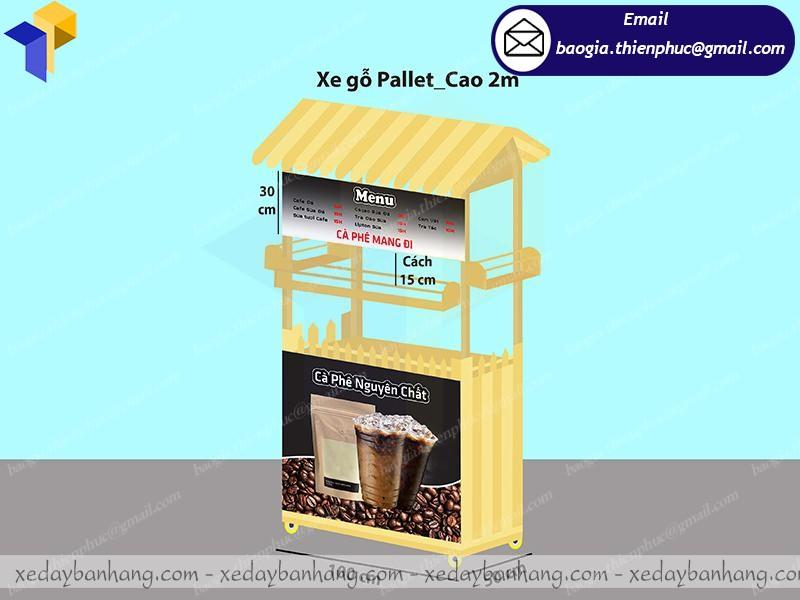 Xe bán cà phê mang đi giá rẻ tại xưởng sản xuất