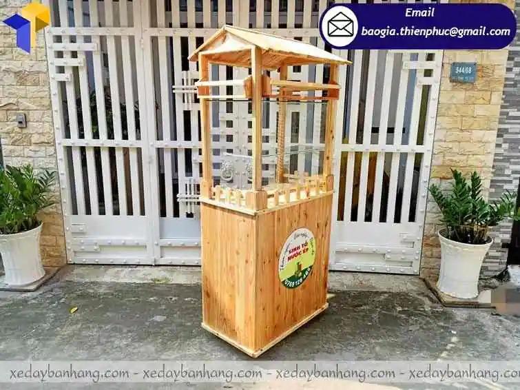 tủ gỗ bán sinh tố di động giá rẻ