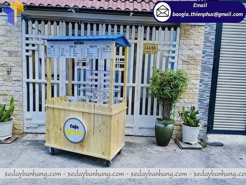 tủ gỗ pallet bán cafe giá rẻ