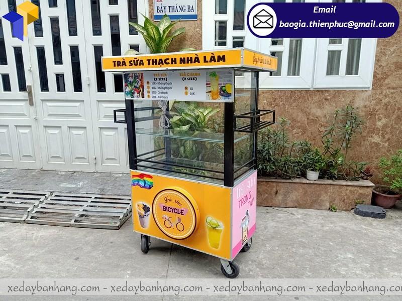 xe bán trà sữa hàng rong theo yêu cầu sỉ -lẻ