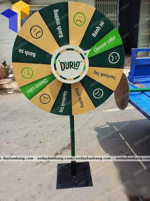 vòng quay may mắn nhãn hàng DURIO