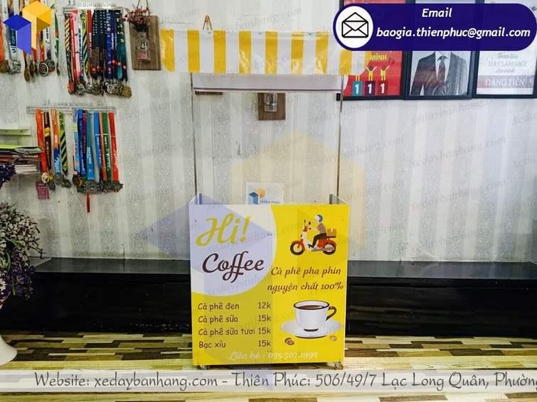 xe bán cà phê vỉa hè
