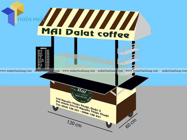 Xe bán coffee đẹp bền giá rẻ tại HCM