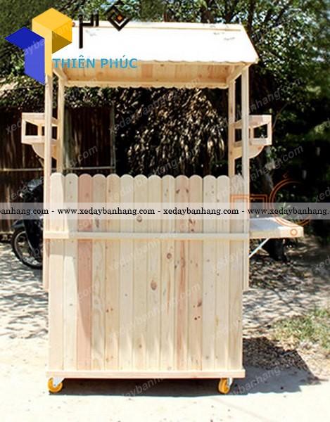 Xe bán hàng lưu động gỗ thông palet giá rẻ hcm