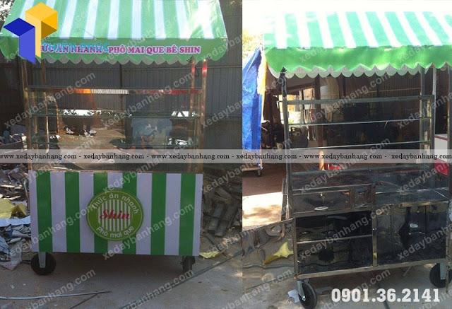 Xe bán khoai tây lốc xoay giá rẻ tại xưởng Thiên Phúc