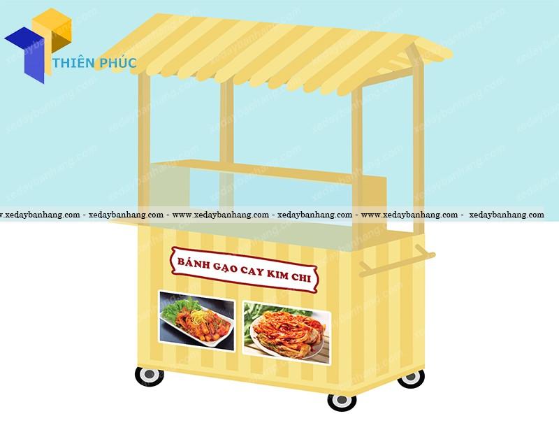 Xe gỗ bán thức ăn nhanh đẹp giá rẻ