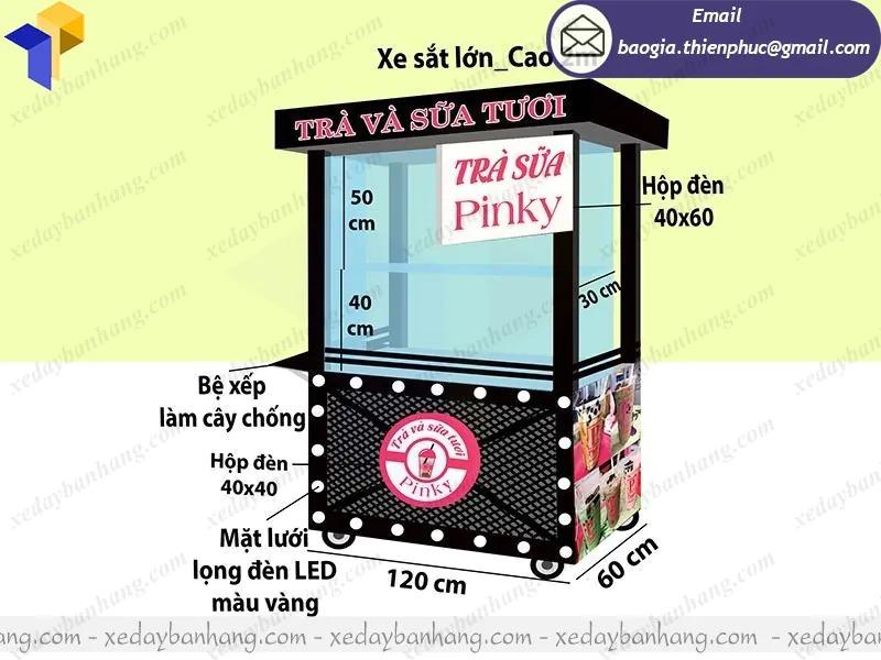 xe inox bán trà sữa di động