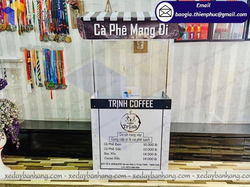 xe lắp ráp bán cafe take away