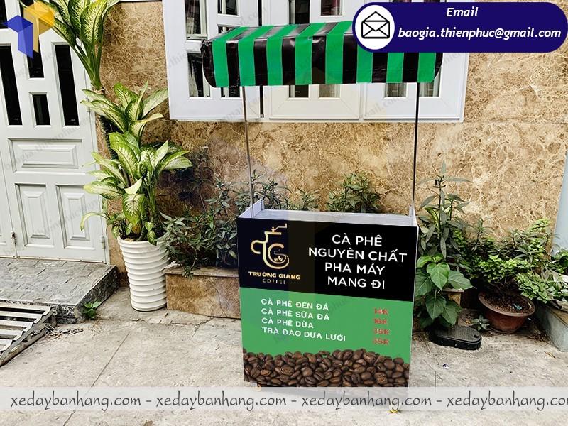 xe lắp ráp bán cafe trà đào