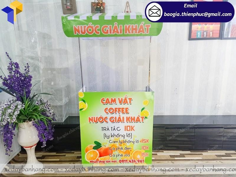 thiết kế booth lắp ráp bán nước cam giá rẻ ở cần thơ
