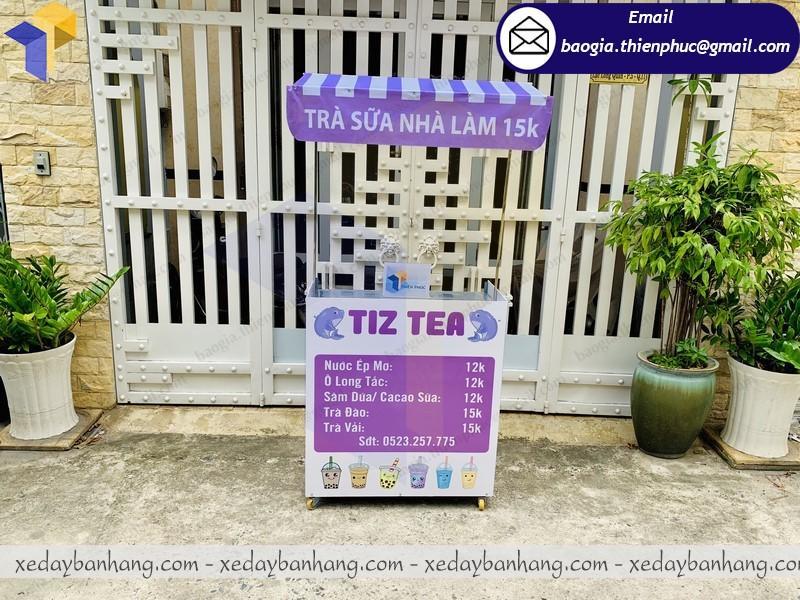 xe lắp ráp bán trà sữa nhà làm