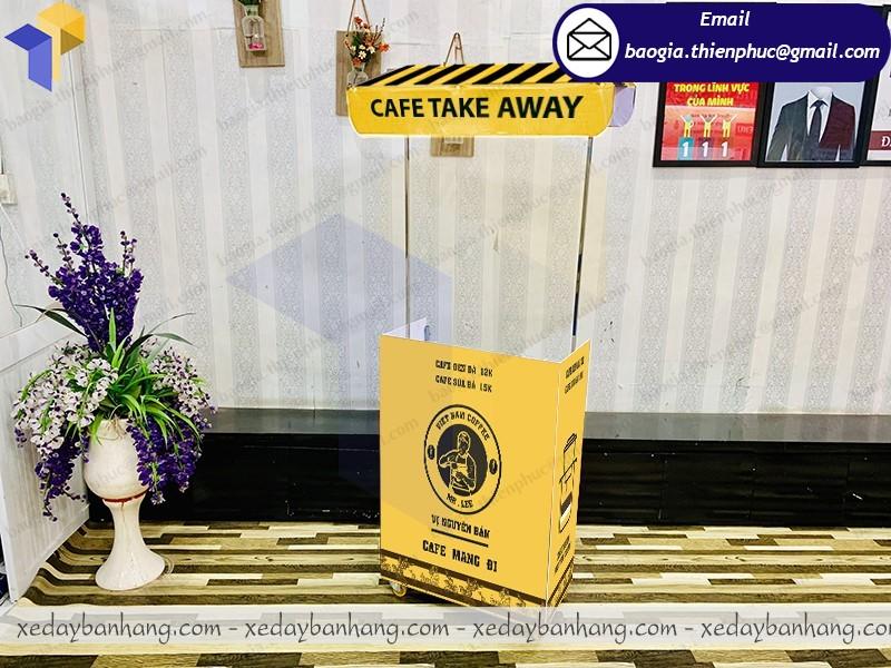 xe lắp ráp mini bán cafe mang đi giá rẻ