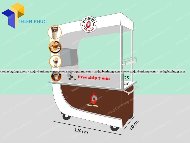Xe lưu động bán trà sữa phong cách sáng tạo