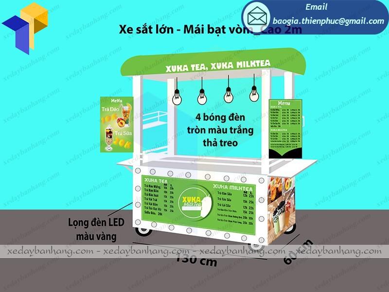 Xe bán trà sữa sinh tố thiết kế độc lạ