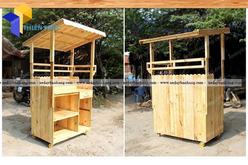 Xe lưu động trà sữa sinh tố bằng gỗ giá rẻ