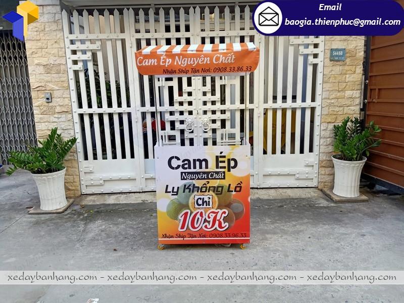 Tủ booth bán nước cam lắp ráp ở phú quốc