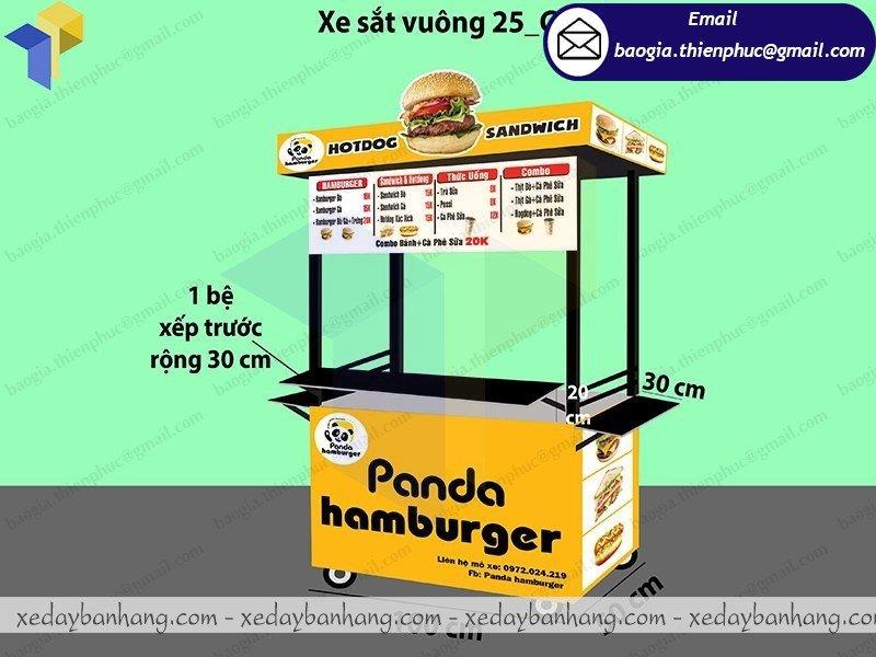 xe sắt bán thức ăn nhanh