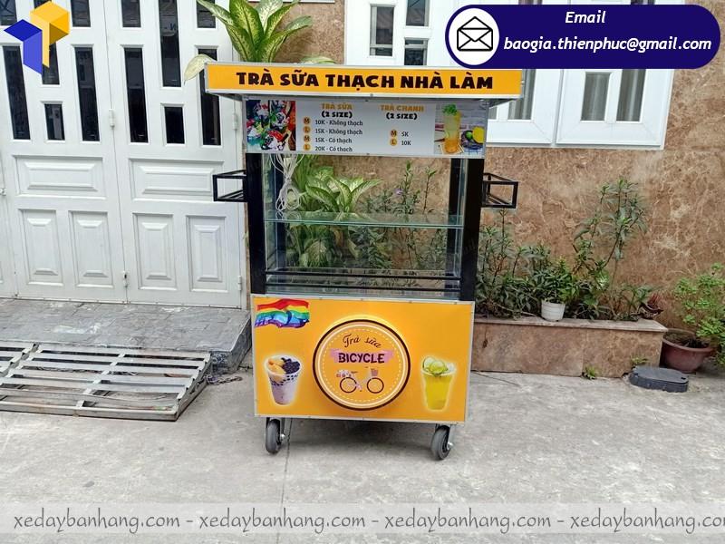 xe bán trà sữa hàng rong theo yêu cầu hcm
