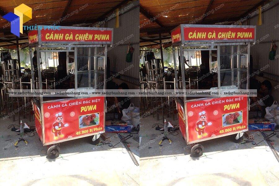 Xe thức ăn nhanh lưu động bằng inox giá rẻ
