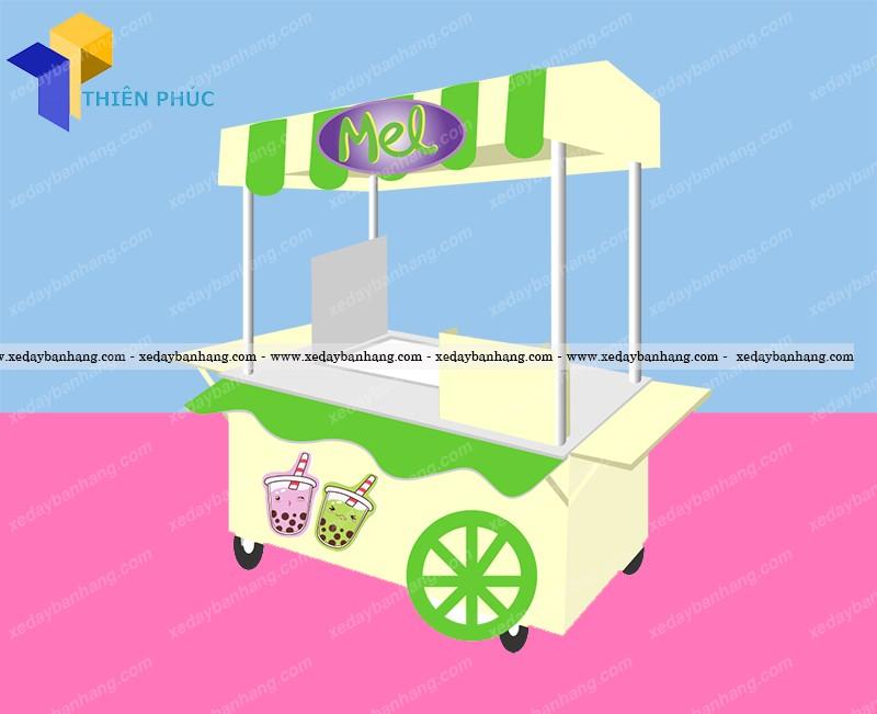 Xe trà sữa thiết kế năng động phong cách